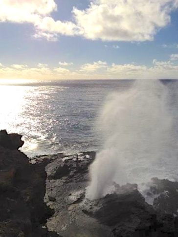 The Blow Hole: Photo by Pulelehua Quirk