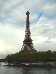 The Eiffel Tower as seen from our river boat this April