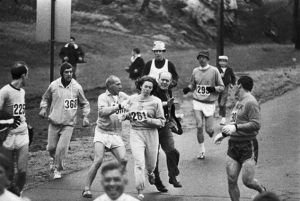 """Get the hell out of my race and give me those numbers."" 1967 Boston Marathon"