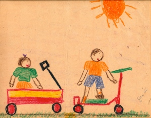 A drawing I did at 6 -- which my mother saved -- of all things!