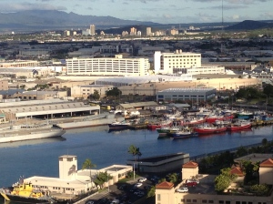 Honolulu Harbor at 8:15 a.m.