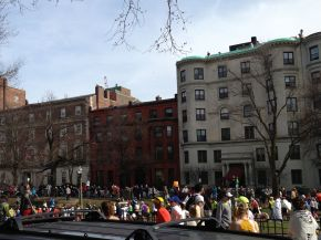 backed up marathoners after the bomb blasts