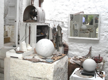 The sculpture workroom at the Tate in St. Ives, England