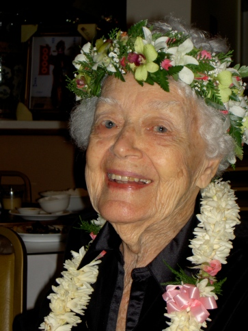 My Mother, Marjorie the First at 93 in 2007