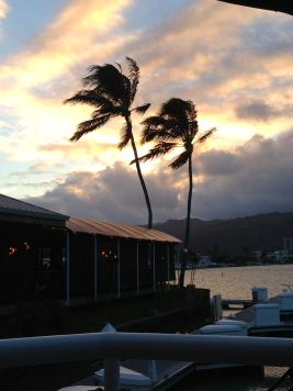 Sunset looking over the Hawaii Kai Marina