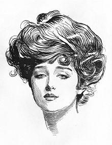 The Gibson Girl circa 1890s