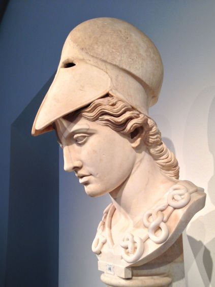 A Roman copy of Athena, goddess of wisdom and war