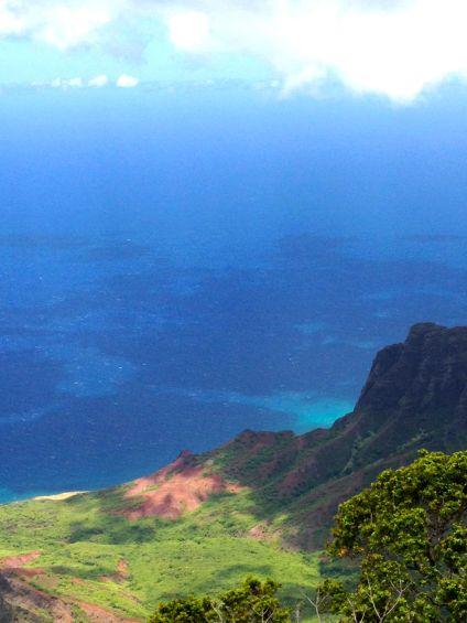 Sea and Sky merging above  Kokee on Kauai