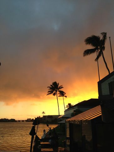 Sunset at the Shack on the Hawaii Kai Marina