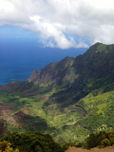 looking down the valley at the north end of Kauia