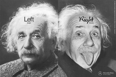 Two photos of Albert Einstein (from http://patrix.cc/nordiblog/?p=403)