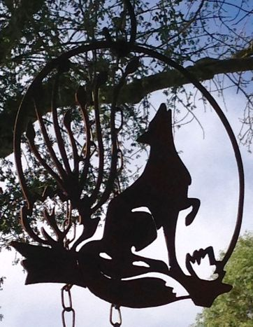 A Metal Coyote