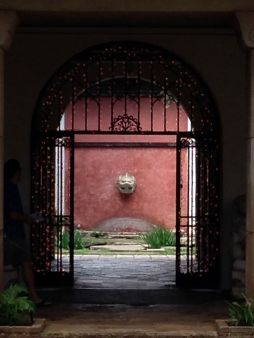 A courtyard at the Honolulu Museum of Art