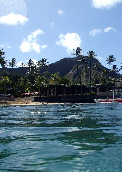 Diamond Head from the ocean