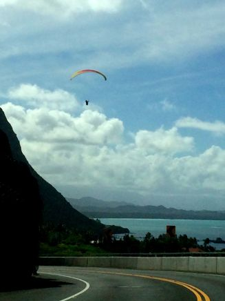 Hang Glider over Waimanalo