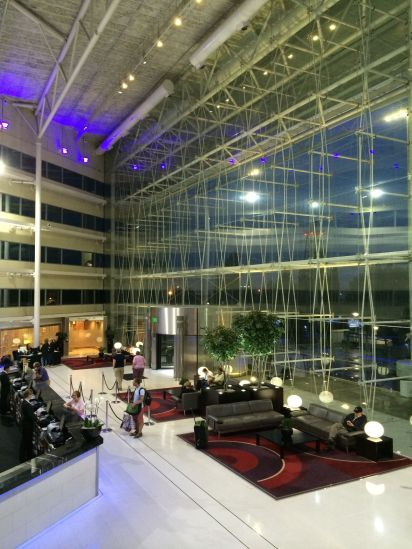 Hilton Heathrow -- our resting point before and after the Garrison Keillor cruise
