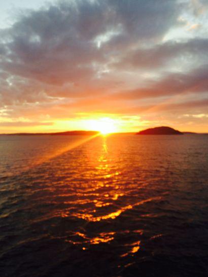 Sunrise -- over Maine waters