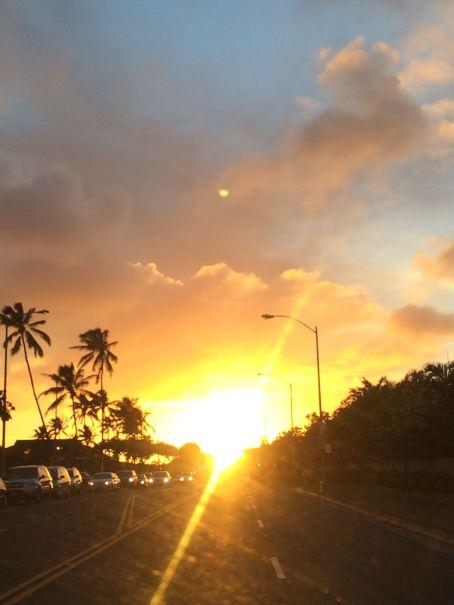 Sunset over Hawaii Kai