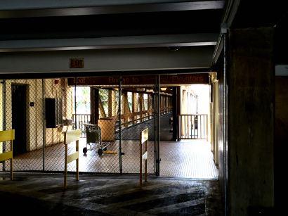 """A """"hidden"""" open door at the Honolulu airport parking garage"""