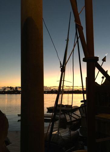 Sunset and boats and stuff at the marina