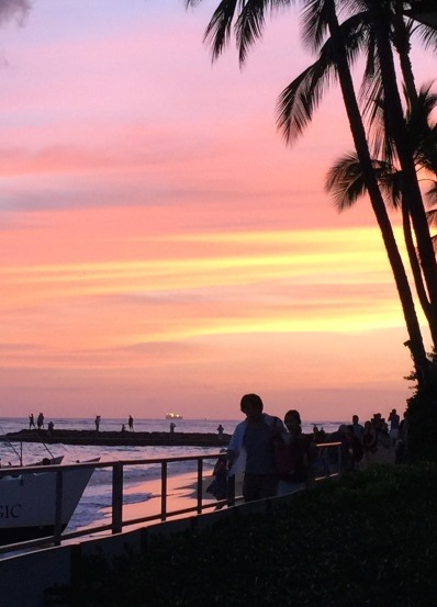 Sunset at the Halekulani