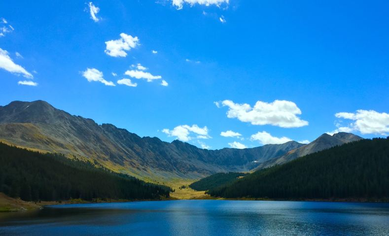 A lake in the Arapaho National Forest seen on the drive back from Aspen to Denver