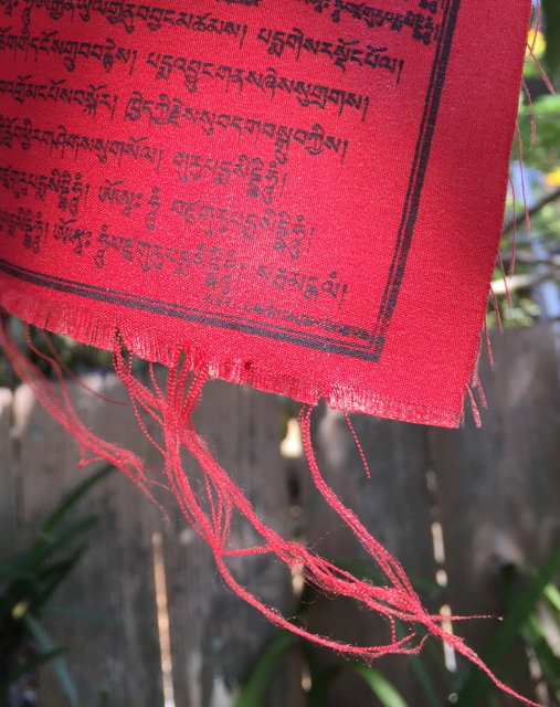 tattered prayer flag
