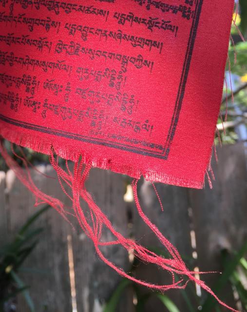 tattered prayer flag